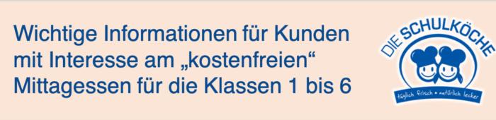 Informationen zur kostenfreien Schulverpflegung in Berlin
